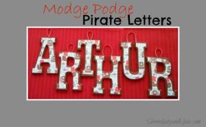 Modge Podge Letters