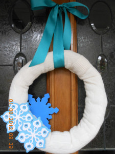 Cable Knit Sweater Winter Wreath