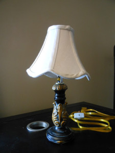 Lamp refashion- from DRAB to FAB!