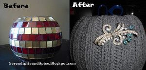 Winter Sweater Bowl with Bling!