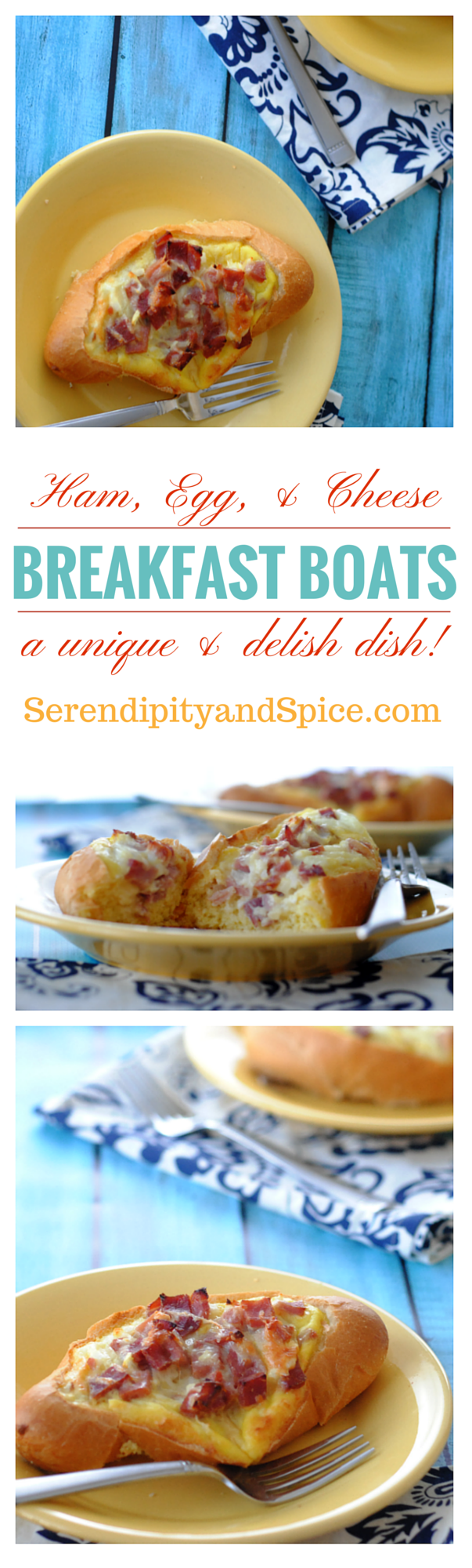 Ham Egg and Cheese Breakfast Boats Recipe