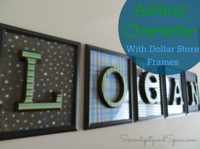 decorating with dollar store frames