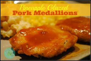 Pineapple Glazed Pork Medallions