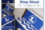 Boy's Chevron Painted Step Stool