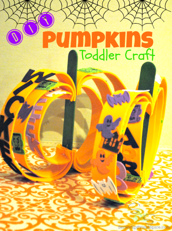 Toddler Crafts Pumpkins #ValueSeekersClub