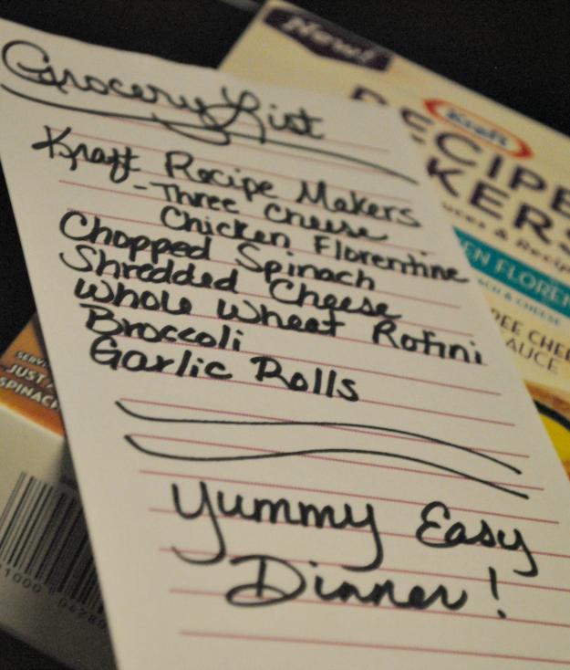 three cheese chicken florentine list #shop #KraftRecipeMakers