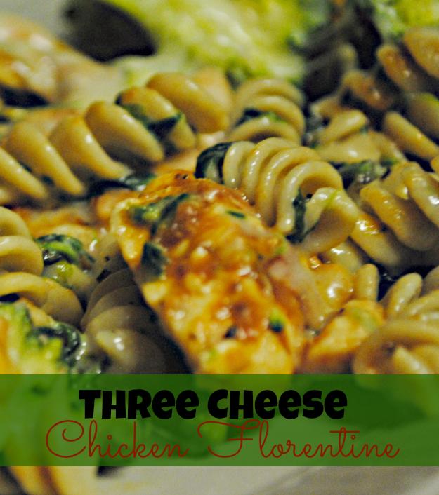 Three Cheese Chicken Florentine #Shop #KraftRecipeMakers