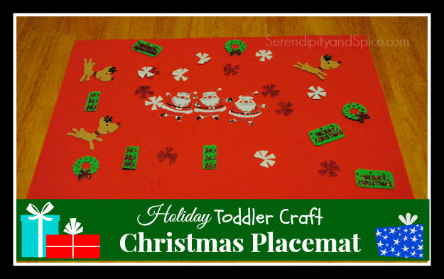 Holiday Toddler Crafts- Christmas Placemat