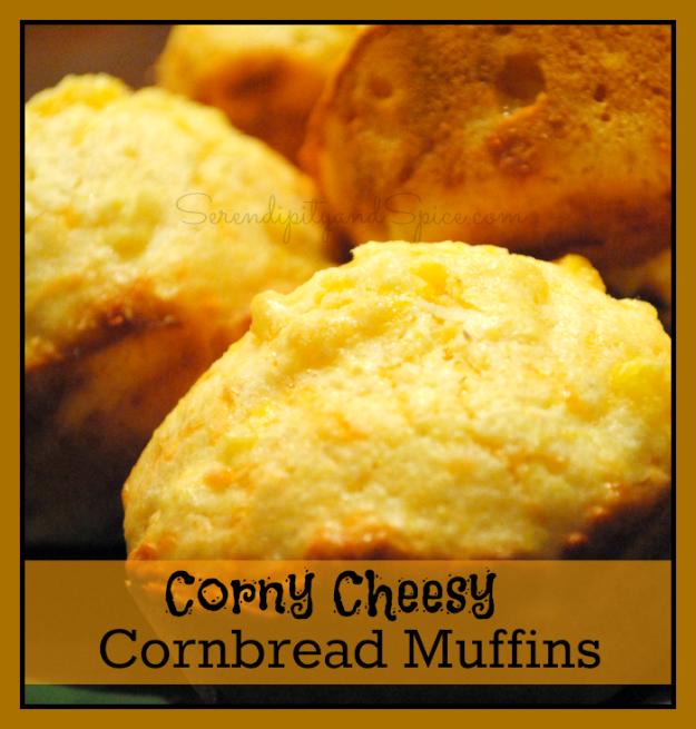 Corny Cheesy Cornbread Muffins Recipe - Serendipity and Spice