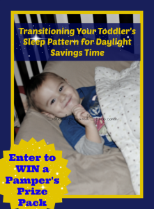 Transitioning Your Toddler for Daylight Savings Time & Giveaway