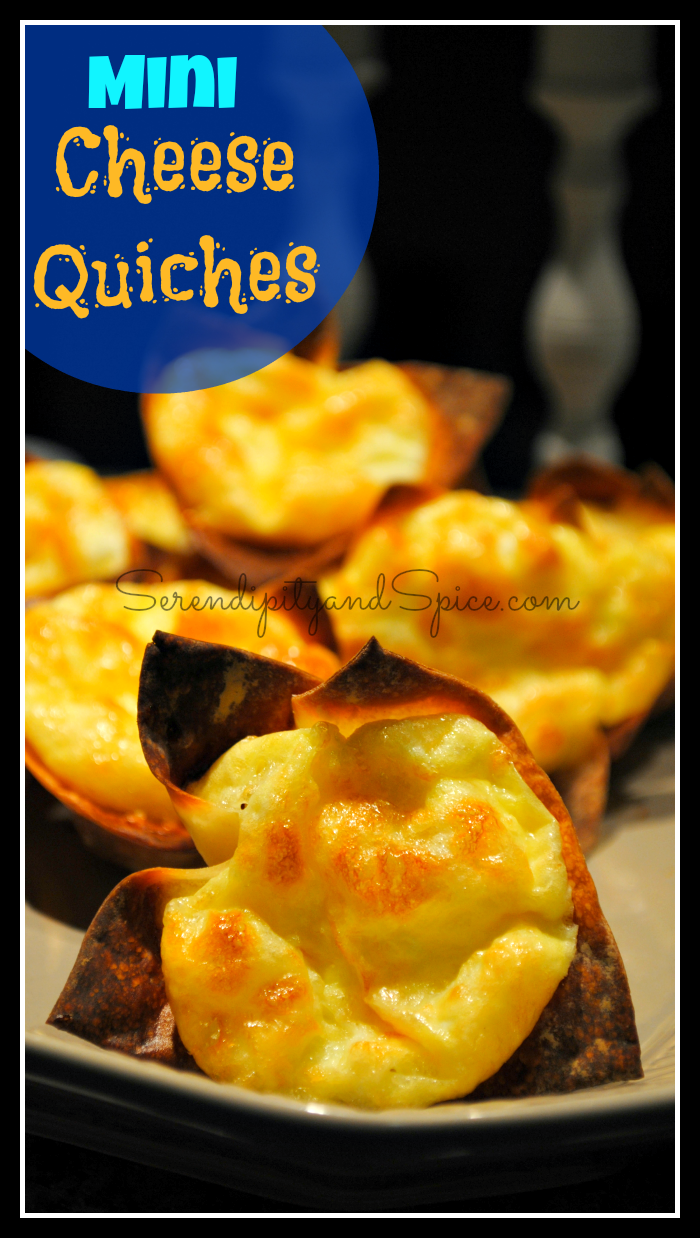 mini cheese quiches