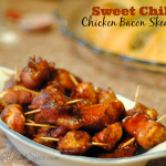 Sweet Chili Chicken Bacon Skewers Recipe
