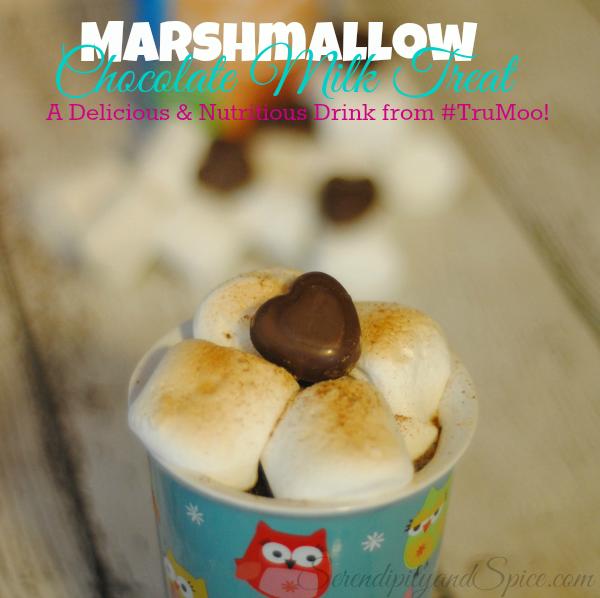 Marshmallow Chocolate Milk #TruMoo #Ad