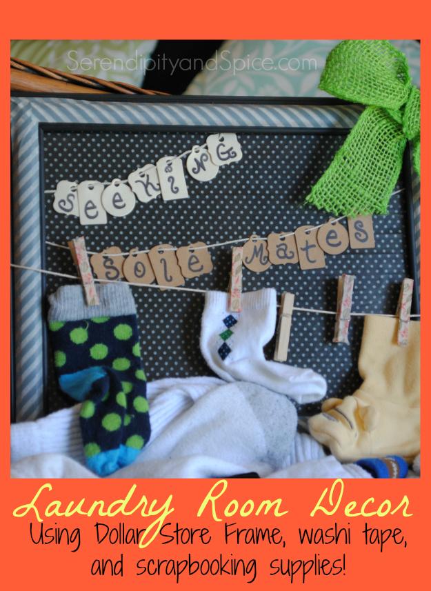 Seeking Sole Mates Laundry Room DIY Decor