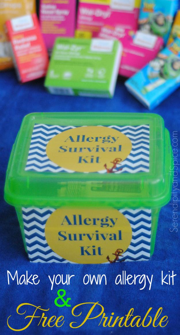 Allergy issues survival kit