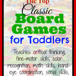My Favorite Classic Board Games for Toddlers