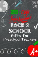 Back to school gifts for preschool teachers