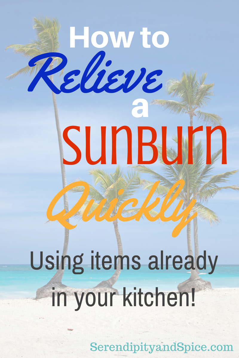 How to relieve a sunburn quickly