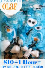 Frozen Olaf DIY No Sew Fleece Blanket $10