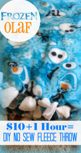 Frozen's Olaf DIY No Sew Blanket for $10