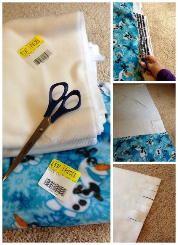 DIY No Sew Blanket
