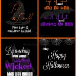 4 Matching Halloween Free Printables
