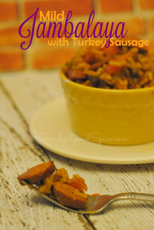 Mild Turkey Sausage Jambalaya