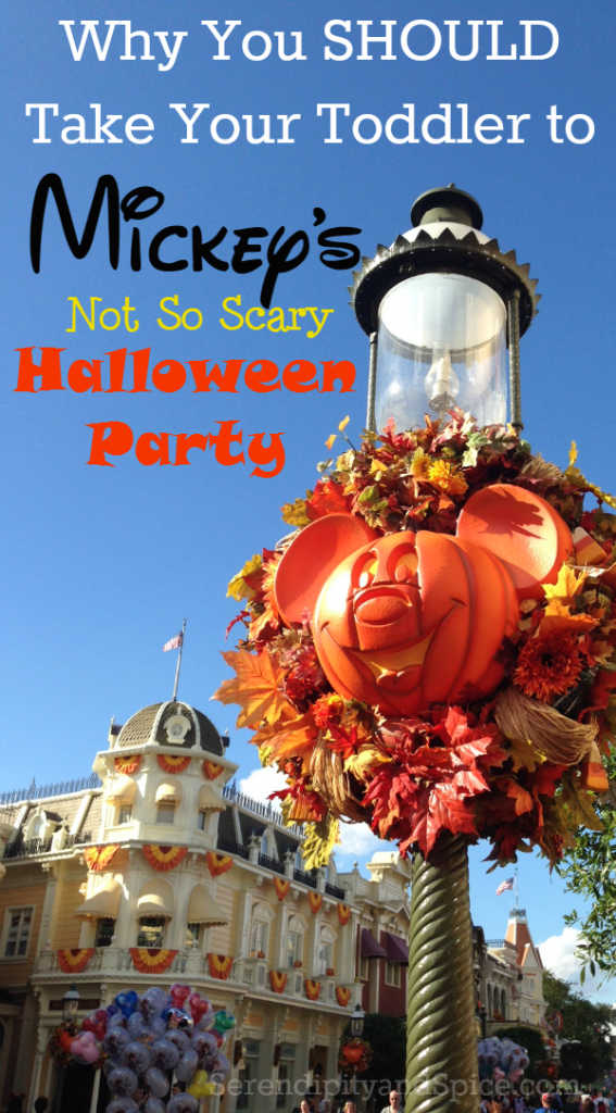 Taking a Toddler to Mickey's Not So Scary Halloween Party