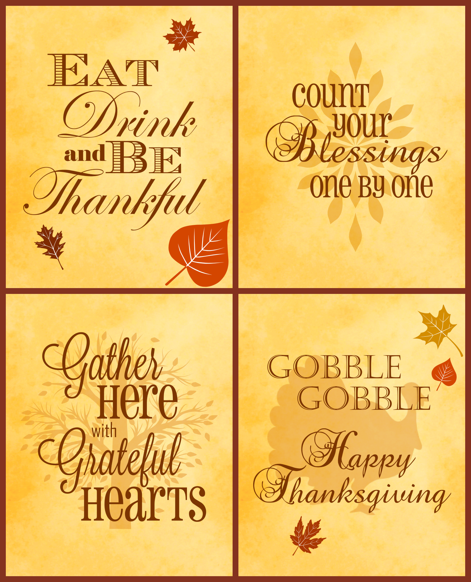 Free Thanksgiving Printables 4 Pack Serendipity And Spice Embracing Life With Melissa Llado