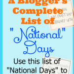 A Blogger's List of National Days