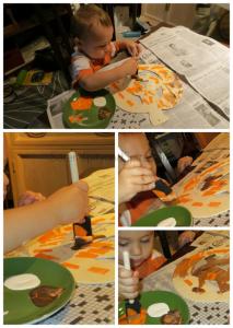 Toddler Crafts- Halloween Door Decor