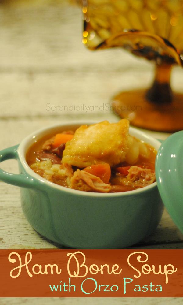 Ham Bone Soup Recipe with Orzo Pasta