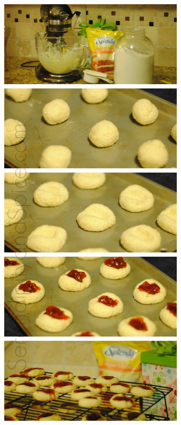 Strawberry Thumbprint Splenda Cookies
