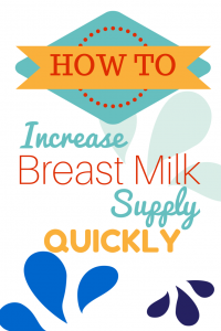 HOW TO increase breast milk supply