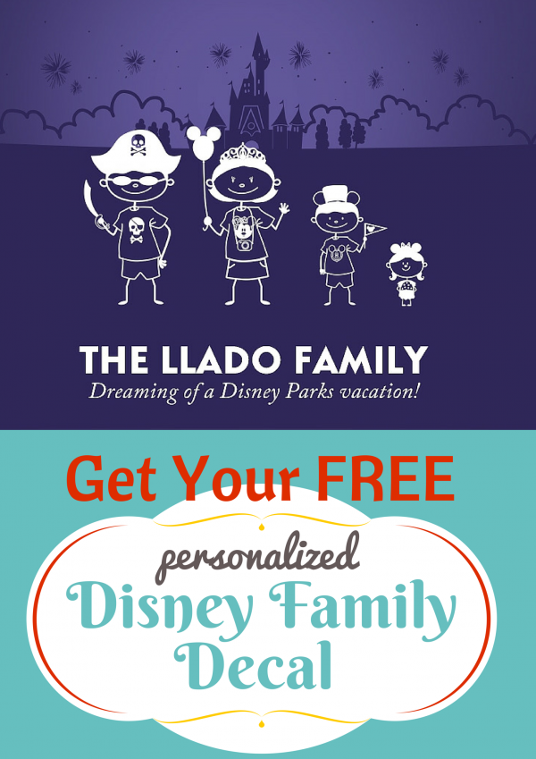 FREE Disney Stick Figure Decals