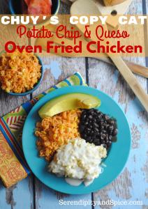 Queso Potato Chip Oven Fried Chicken Recipe
