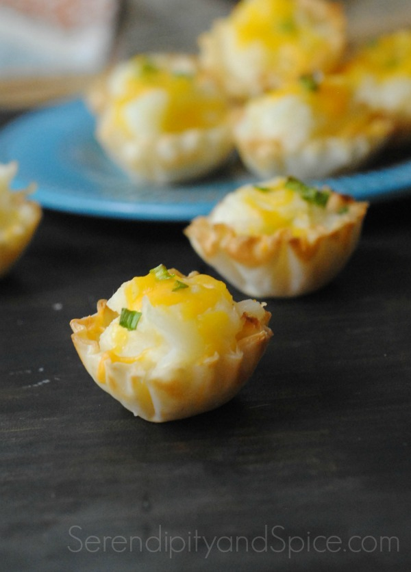 phyllo potato cups