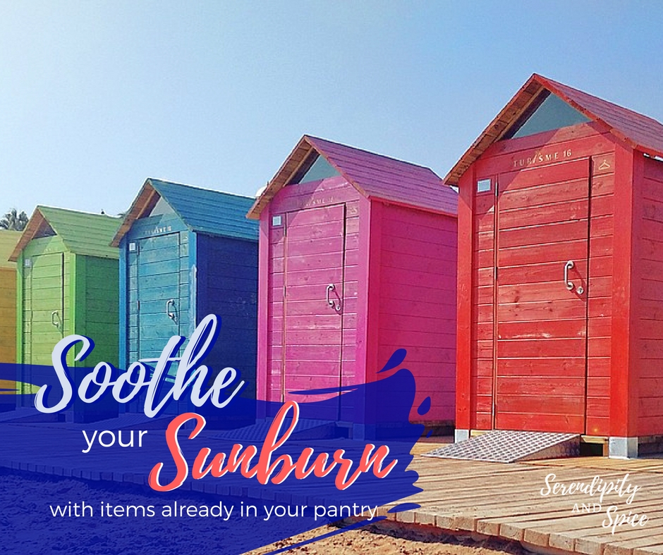 Soothe a sunburn with items from pantry