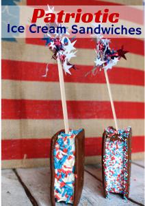 Easy Patriotic Ice Cream Sandwiches