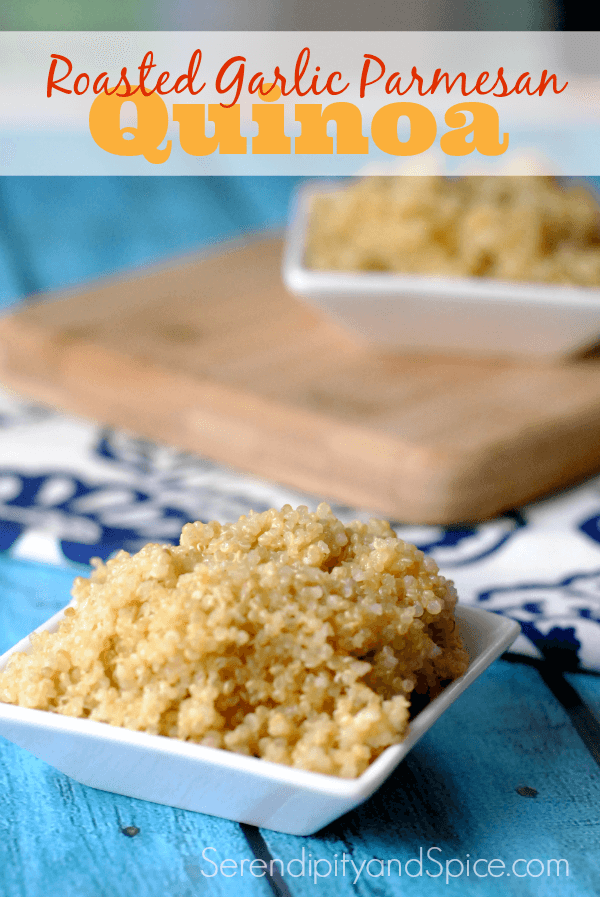 Roasted Garlic Parmesan Simple Quinoa Recipe