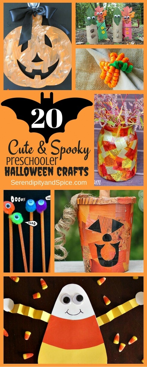 20 Cute and Spooky Preschooler Halloween Crafts