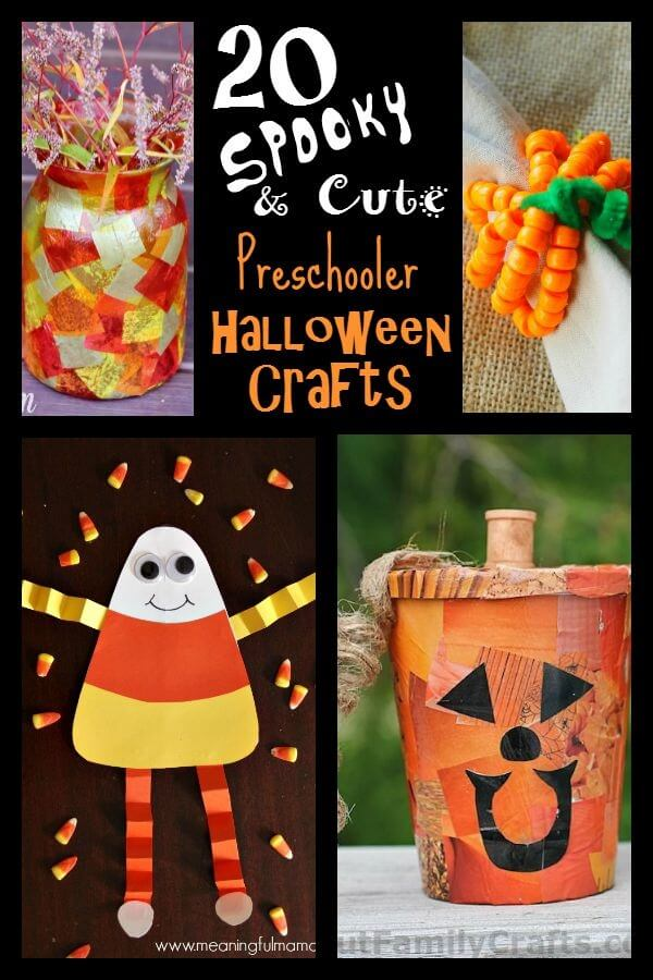 20 Cute & Spooky Halloween Crafts for Preschoolers