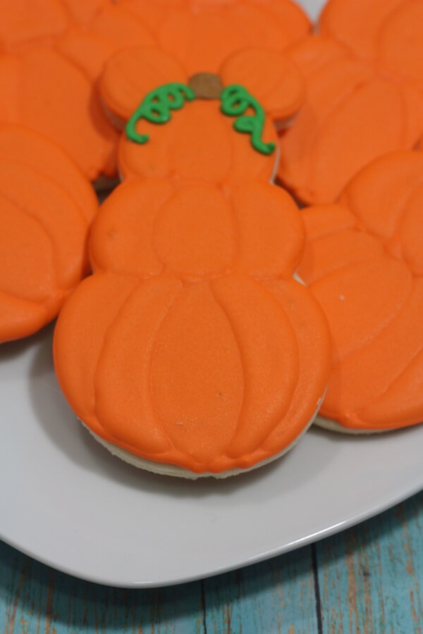 Mickey Mouse Pumpkin Halloween Cookies