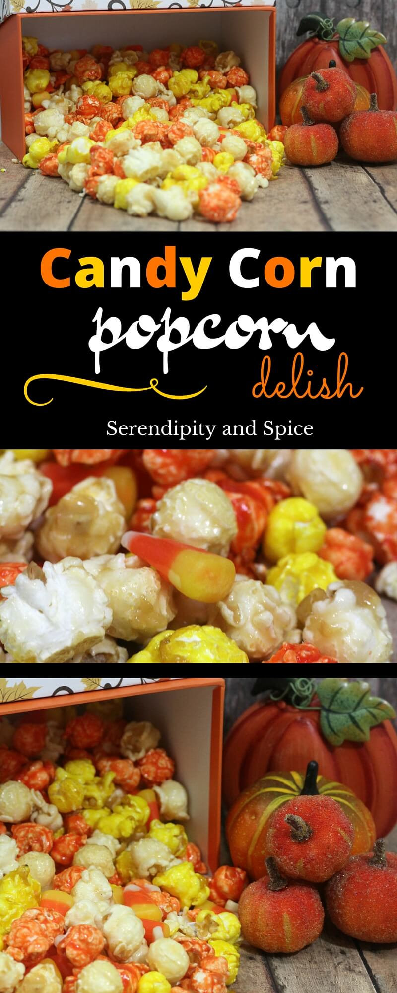 Candy Corn Fall Popcorn Recipe