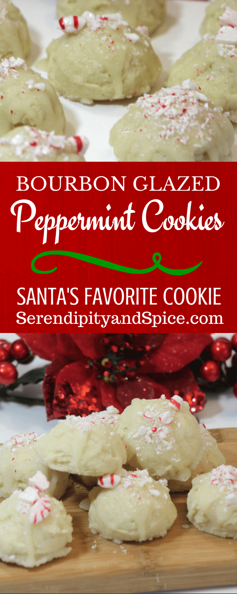 Bourbon Glazed Peppermint Cookies - PIN THIS ONE