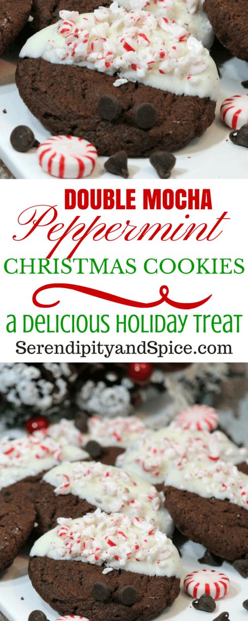 Double Chocolate Mocha Peppermint Cookie Recipe