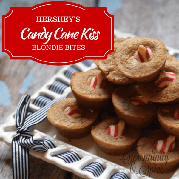 Hershey's Candy Cane Kiss Blondie Bites Recipe