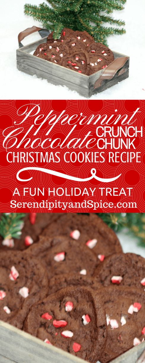 Peppermint Crunch Chocolate Chunk Cookies Recipe