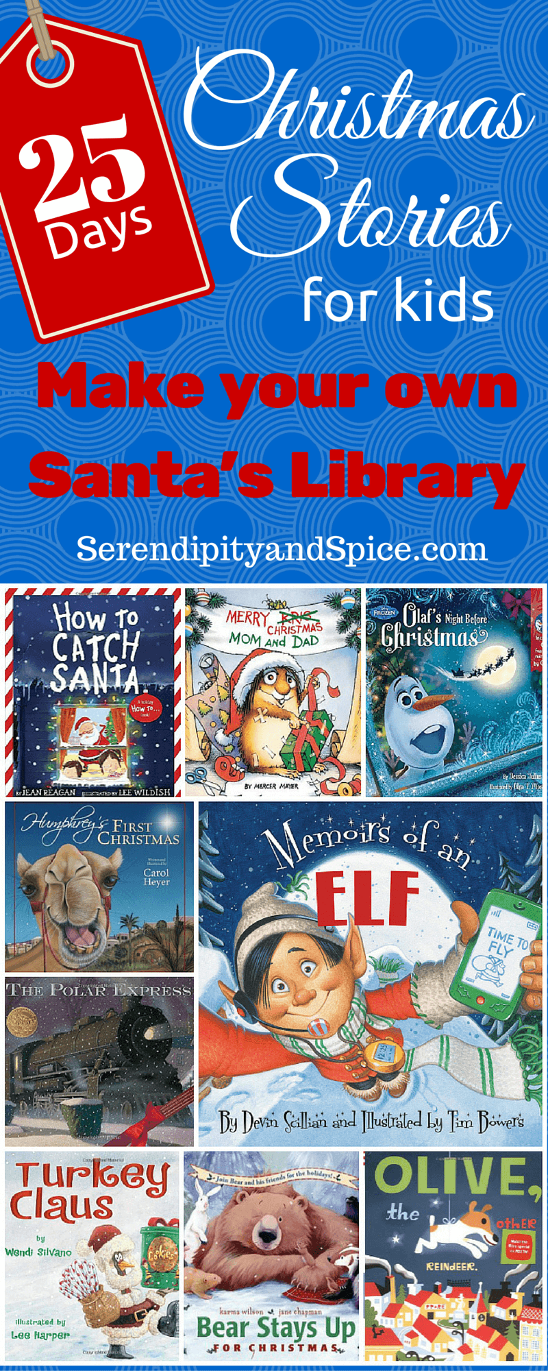 books christmas library santa toddler tradition children holiday serendipityandspice reading instant