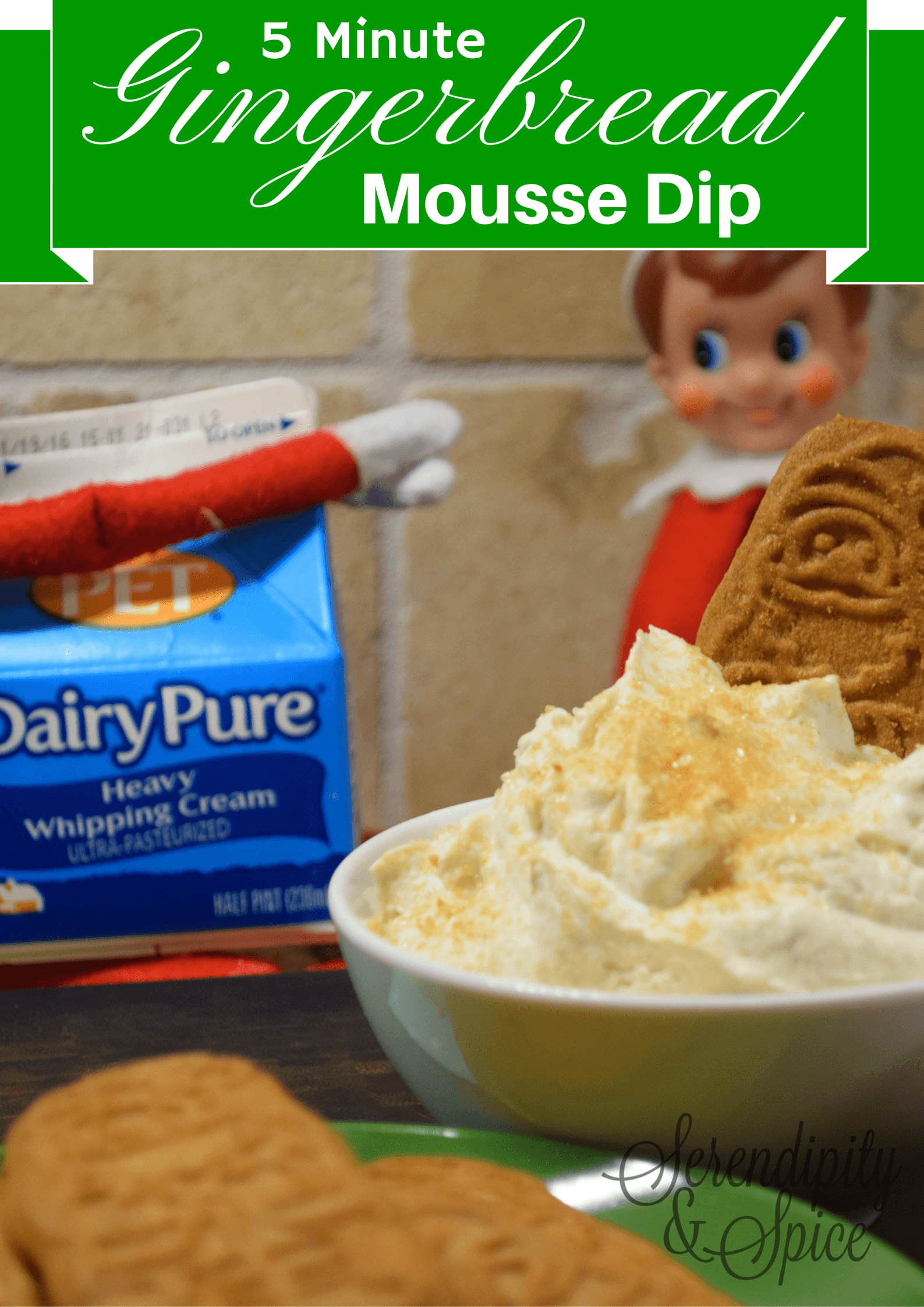 5 Minute Gingerbread Mousse Dip Recipe